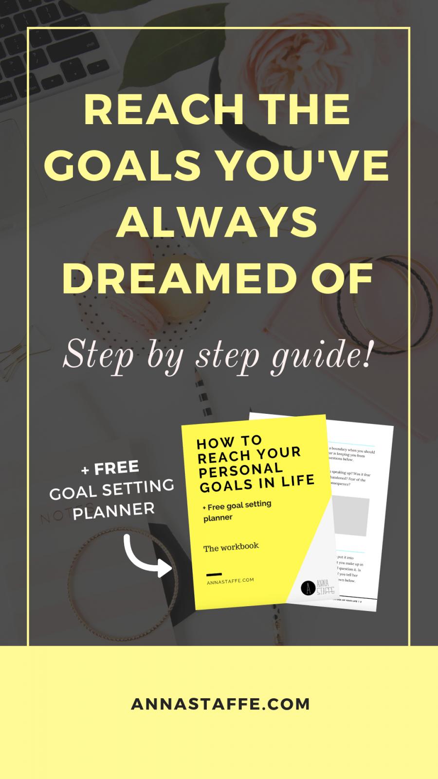 personal goals reach setting goal achieve planner believe